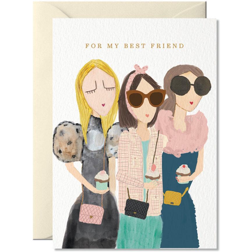 Nelly Castro Umschlagkarte best friends