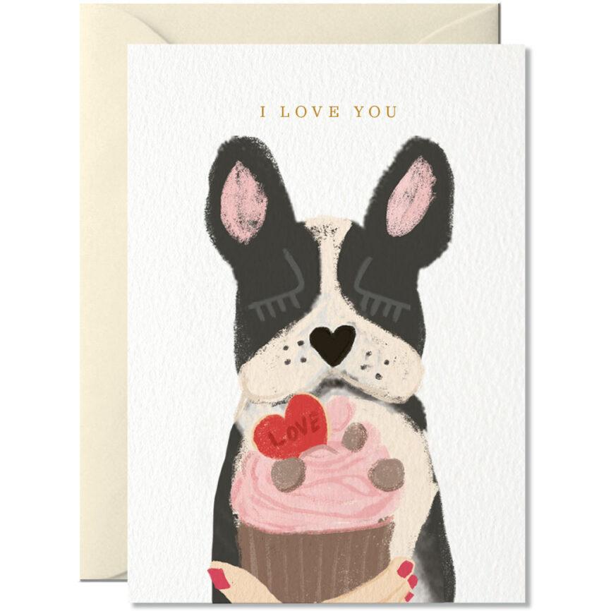 Nelly Castro Umschlagkarte dog