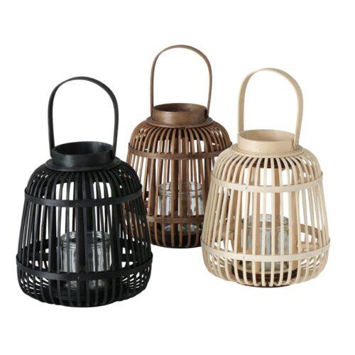 Windlicht aus Bambus