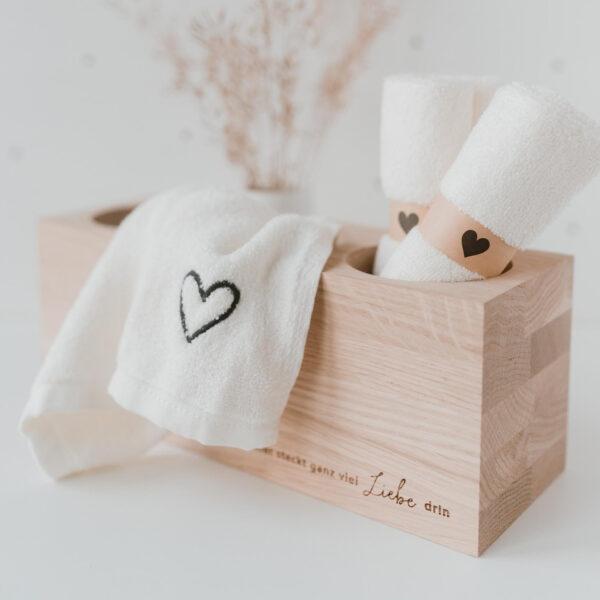 Eulenschnitt Holzblock Liebe