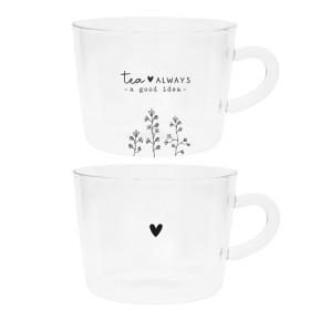 Bastion Collections Teeglas always tea / hearts