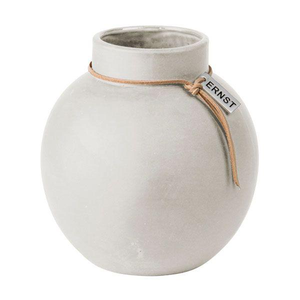 Ernst Keramik Vase natur weiß