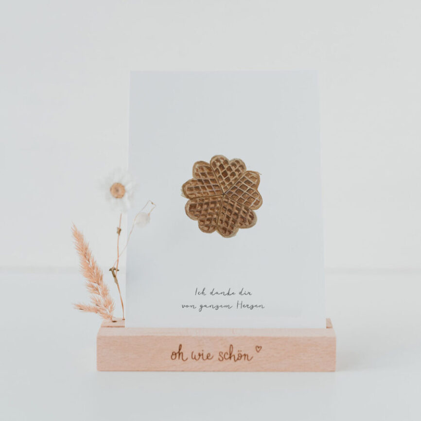 Eulenschnitt Postkarte waffel