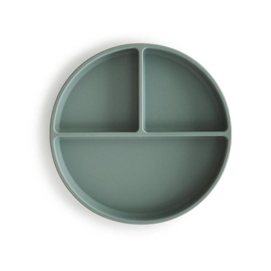 Mushie Kinderteller Silikon Cambride Blue