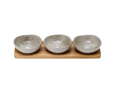 Ladelle Servierschälchen dipschälchen grau artisan
