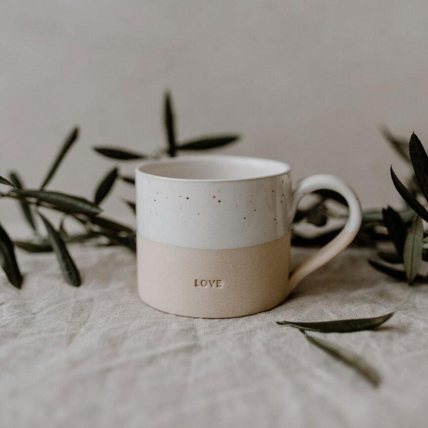 Eulenschnitt Tasse Love mit henkel