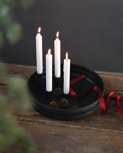 Storefactory Kerzenhalter Bolmen schwarz glasiert