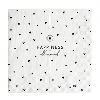 Bastion Collections Serviette happiness all around