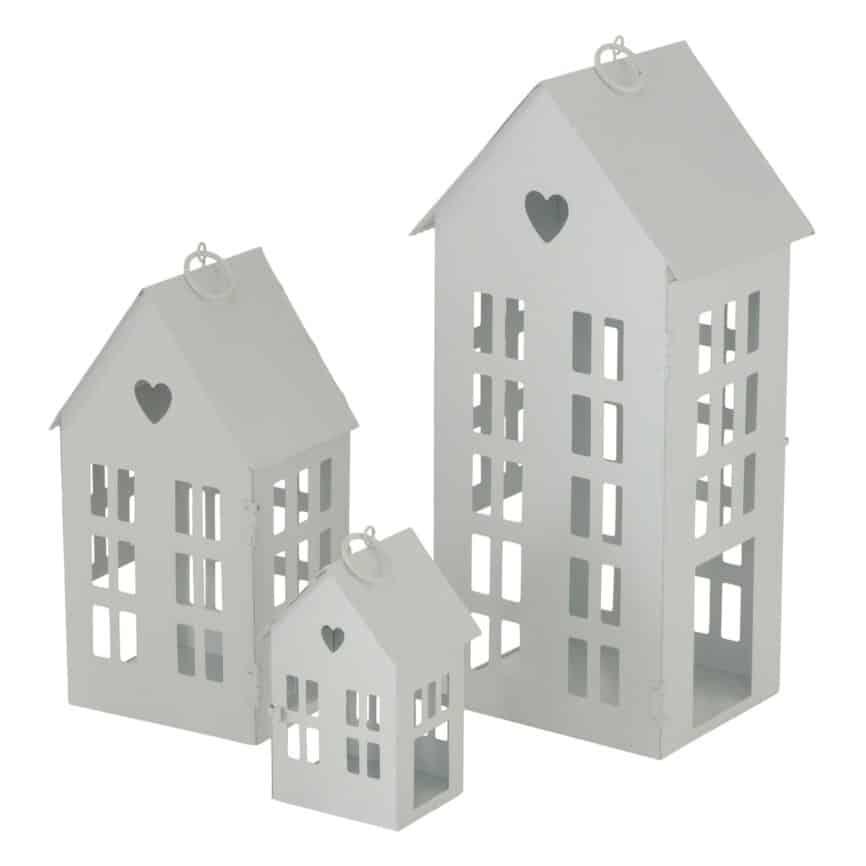 Lichthaus Metall weiß mit herz
