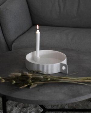 Storefactory Kerzenhalter Lidaby weiß