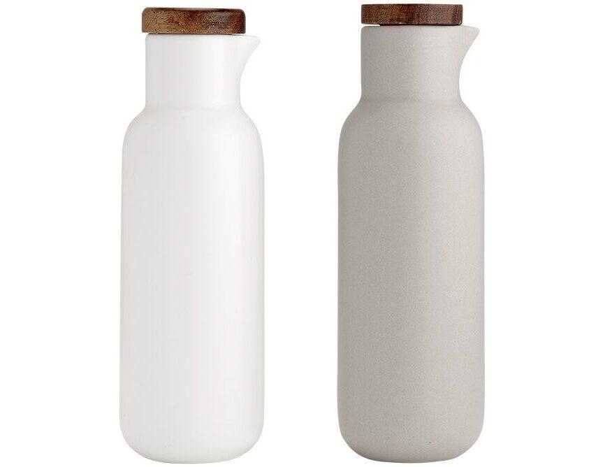 Ladelle Öl und Essig Set weiß grau