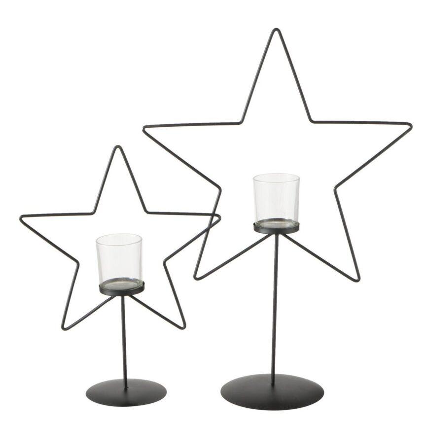 Teelichthalter Stern 2er Set