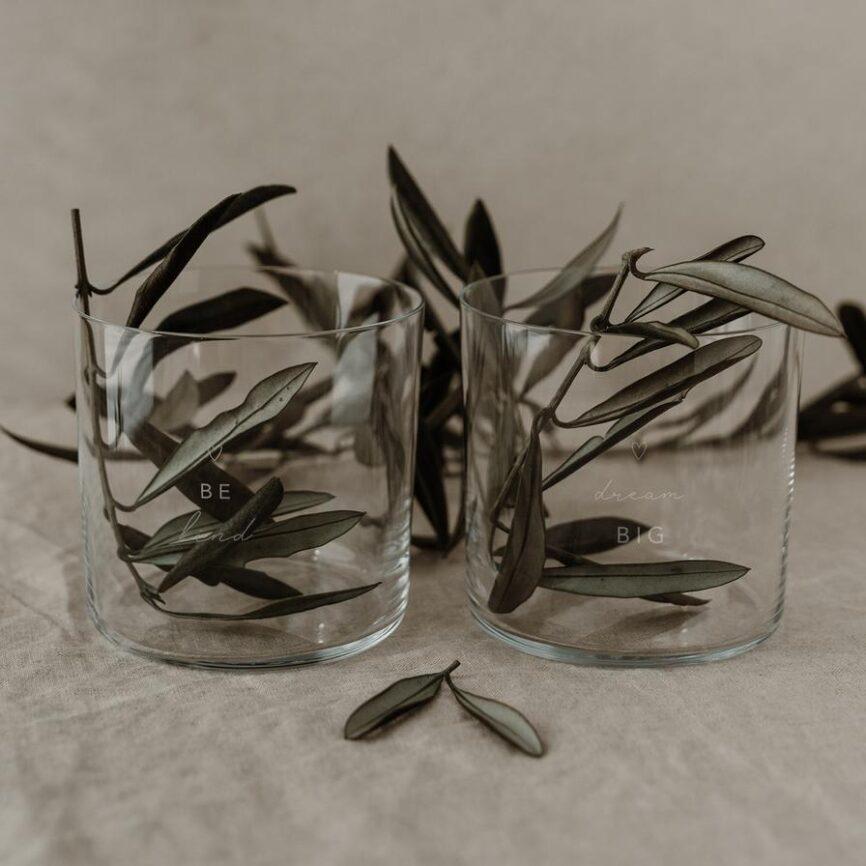 Eulenschnitt Trinkglas Dreams